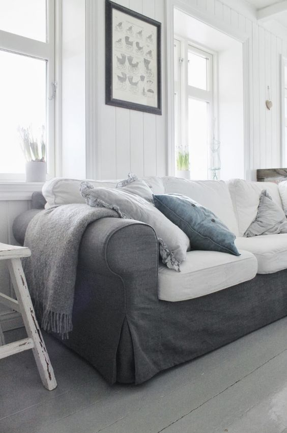 Graphite Grey Ektorp Sofa In