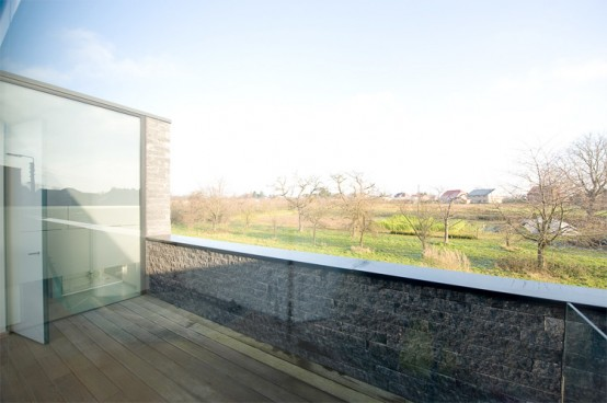 Gray Parallelogram House Design