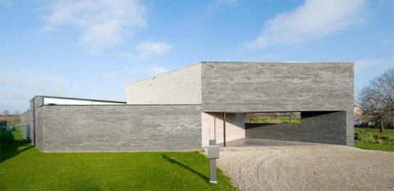 Gray Parallelogram House Design