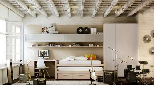 Gray Teen Room