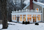 Great Sunroom Surrounded By Winter