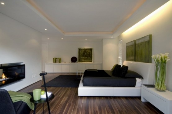 Green Accents In Bedrooms
