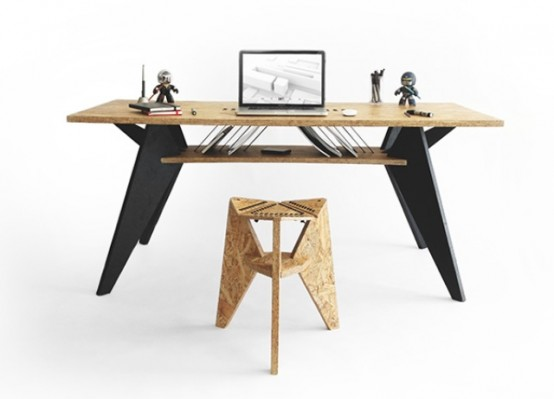 Green And Practical Viva Desk With A Crafted Touch