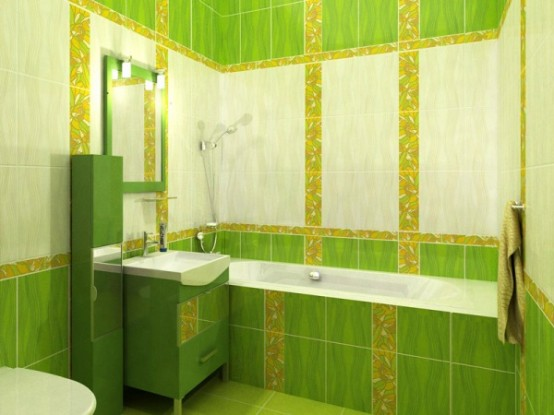 Exceptionnel Green Bathroom Design Ideas