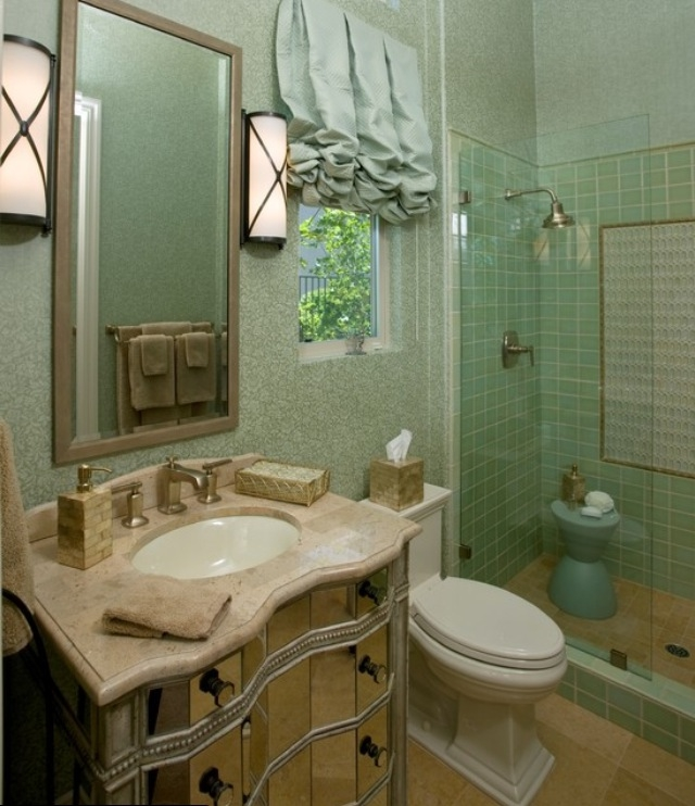 71 cool green bathroom design ideas digsdigs for Bathroom kitchen remodel
