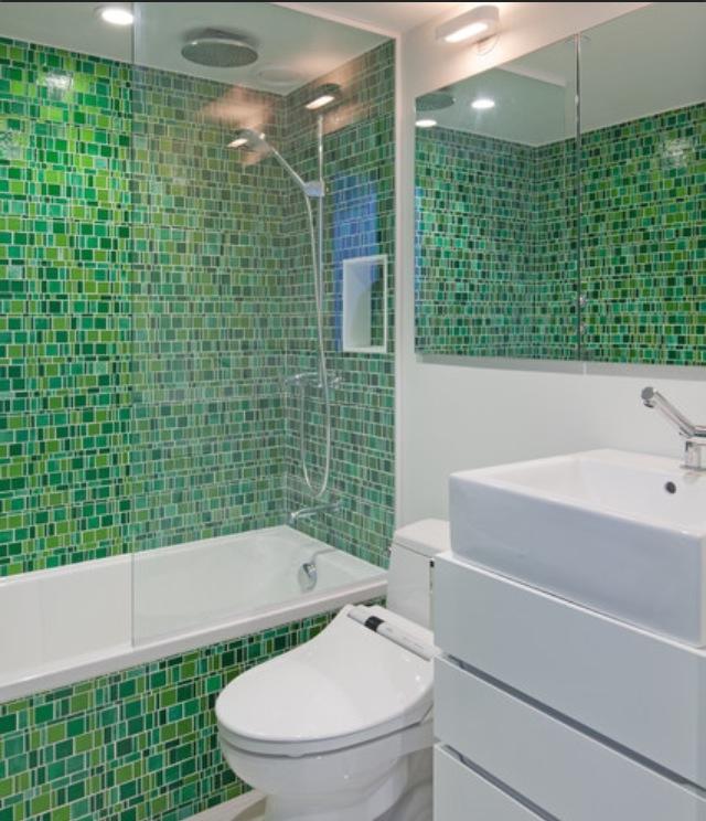 Lime Green And Purple Bathroom