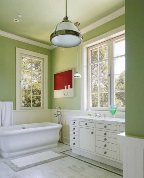 71 cool green bathroom design ideas digsdigs for Bathroom designs and colors