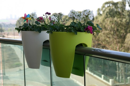 Modern Planters for a Balcony Or Any Other Space with Railing