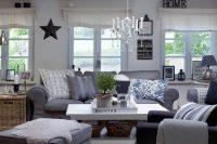 grey Ektorp slipcover for a rustic vintage living room