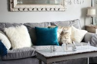 grey Ektorp sofa for a shabby chic family room