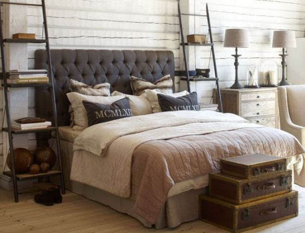 stylish masculine headboards for your man's cave bedroom  digsdigs, Headboard designs