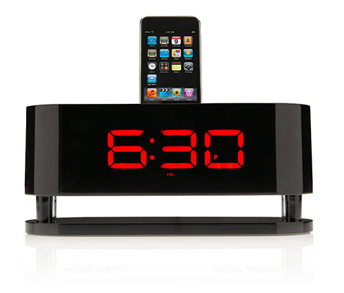 Beautiful iPhone Docks with Digital Alarm