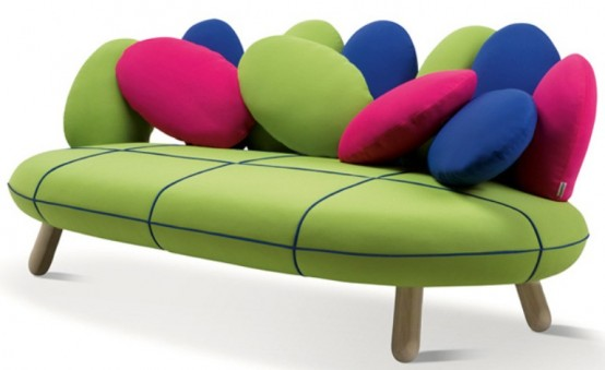 Gumdrop-Looking Sofa In Vivid Colors