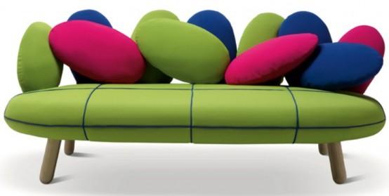 Gumdrop Looking Sofa In Vivid Colors