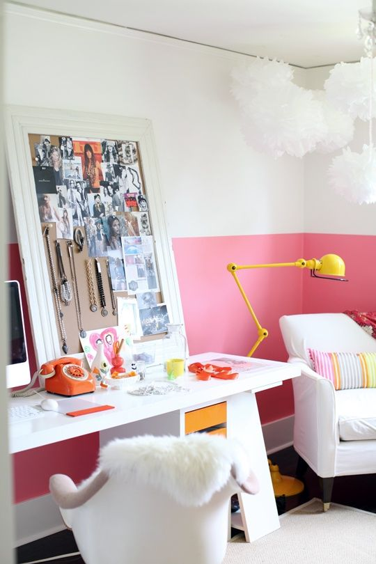 Half Painted Wall Decor Ideas