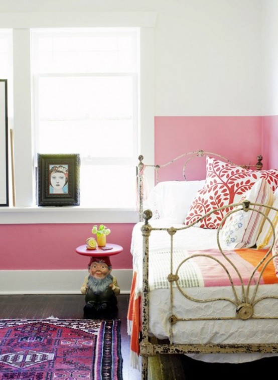 The Latest Decor Trend Half Painted Wall Ideas