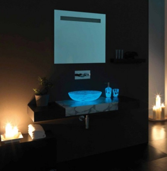 Half Transparent Countertops For Your Bathroom