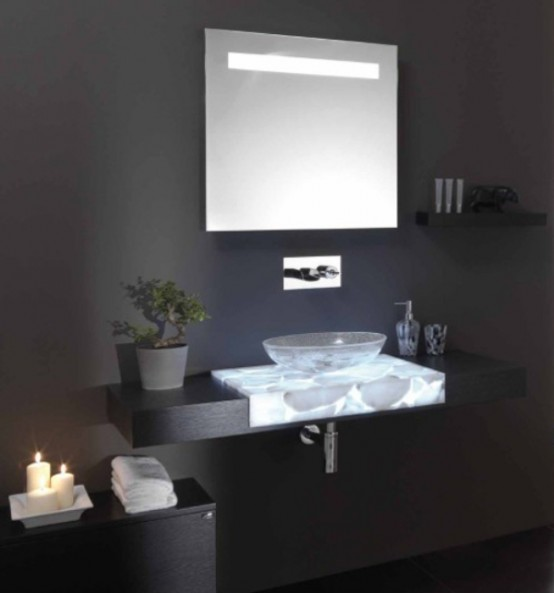 Half Transparent Countertops For Your Bathroom