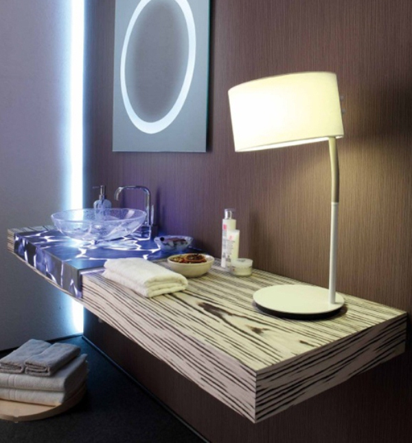 Amazing Half Transparent Countertops For Your Bathroom