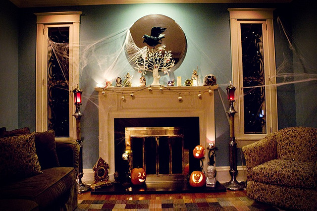 50 Great Halloween Mantel Decorating Ideas DigsDigs - Ideas For Halloween Decorations Inside