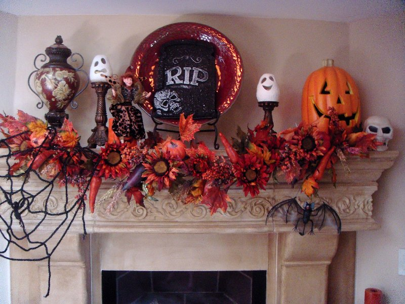 Decorating Ideas > 50 Great Halloween Mantel Decorating Ideas  DigsDigs ~ 203734_Halloween Decorating Ideas For Mantels