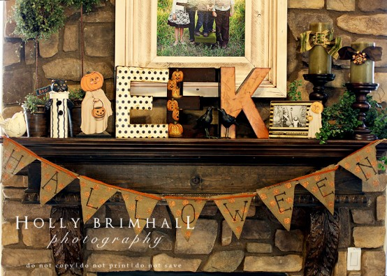 halloween mantel decorating ideas - Halloween Mantel Decor