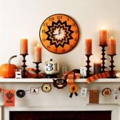 Halloween Mantel Decorating Ideas