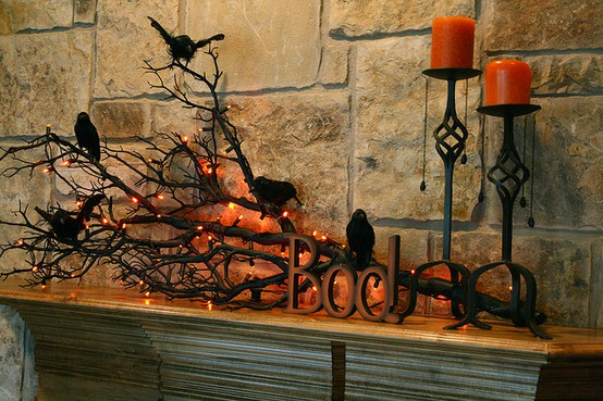 halloween mantel decorating ideas - Halloween Mantle