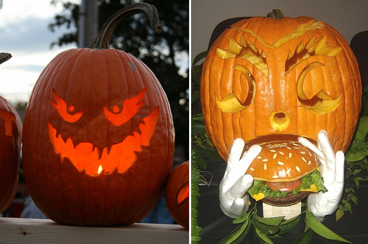 mondays odd item in the den 100 halloween pumpkin carving ideas