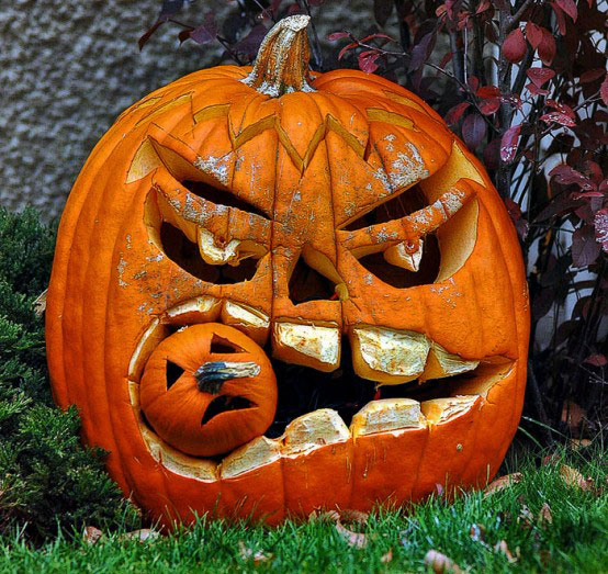 Toothy Grin. This pumpkin features oversized teeth and could eat your alive!
