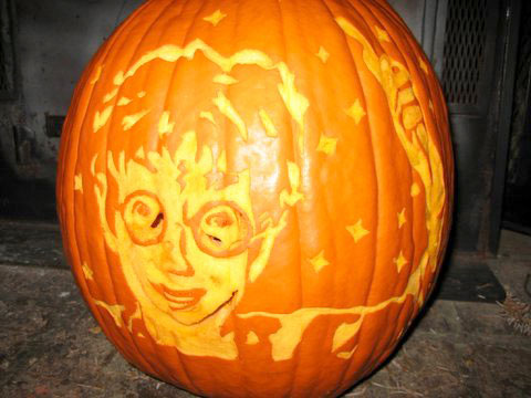 halloween pumpkin carving ideas harry potter is watching you