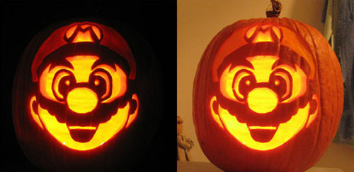 For all those Nintendo freaks - Super Mario carving.