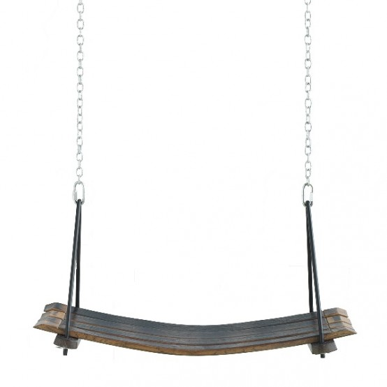 Hammock Tanle And Swing Of Old Wine Barrels