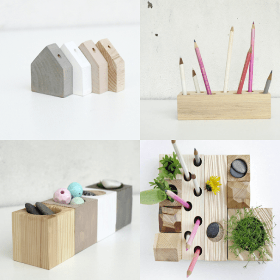Hand Made Zen Organizers Of Wood For Your Working Place