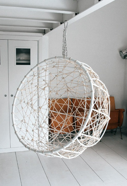 Hanging Metal Hemisphere Chair For Your Garden