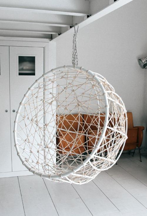 Hanging Metal Hemisphere Chair For Your Garden
