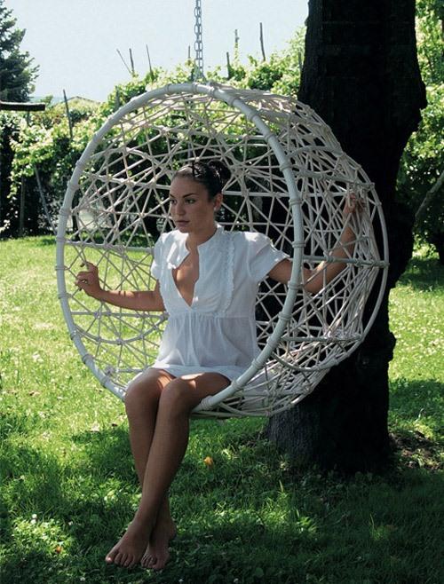 Hanging Metal Hemisphere Chair