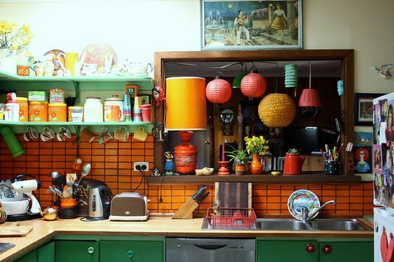 Happy Colorful Kitchen