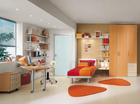 Bright Kids Room Ideas from Sangiorgio Mobili - DigsDigs