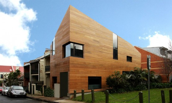 Contemporary House Design Clad in Hard Timber
