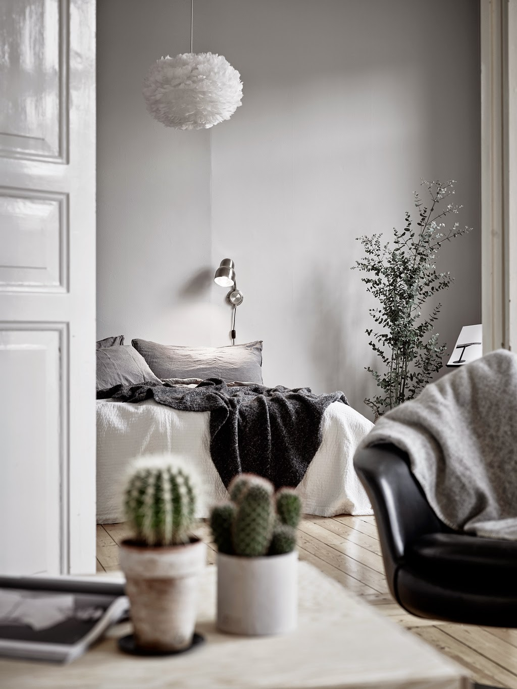 Harmonious Scandinavian Apartment With Musical Instruments In Decor