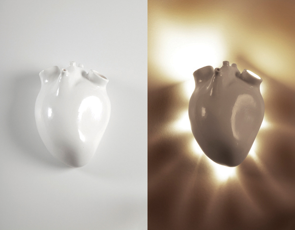 Heart Inspired Wall Lamp