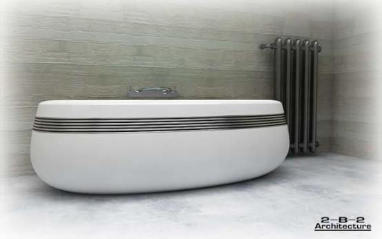 Hi-tech bath theme