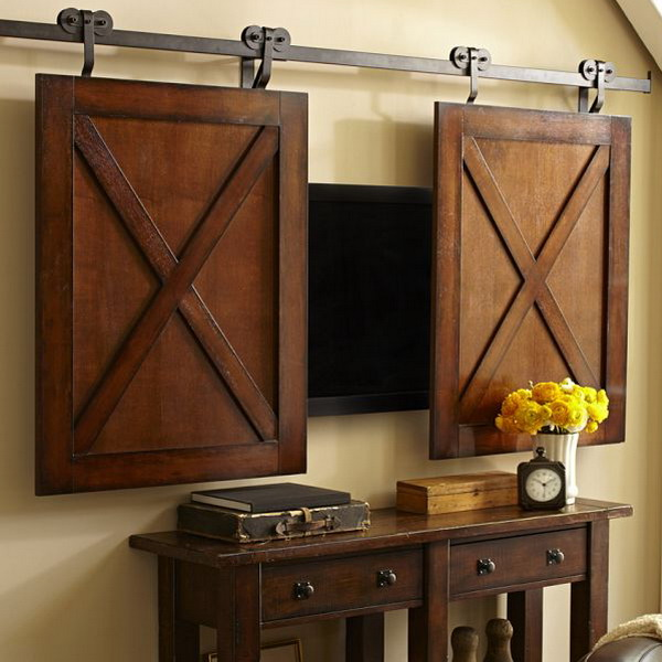 Hiding Your Tv 29 Trendy Panels And Doors Ideas Digsdigs