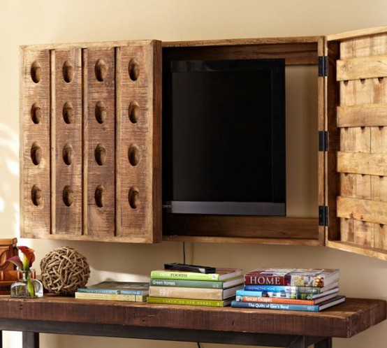 Hiding Your Tv Trendy Door And Panels Ideas