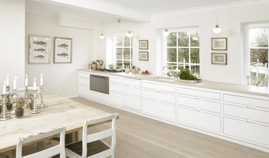 High Gloss White With Ash Kitchen