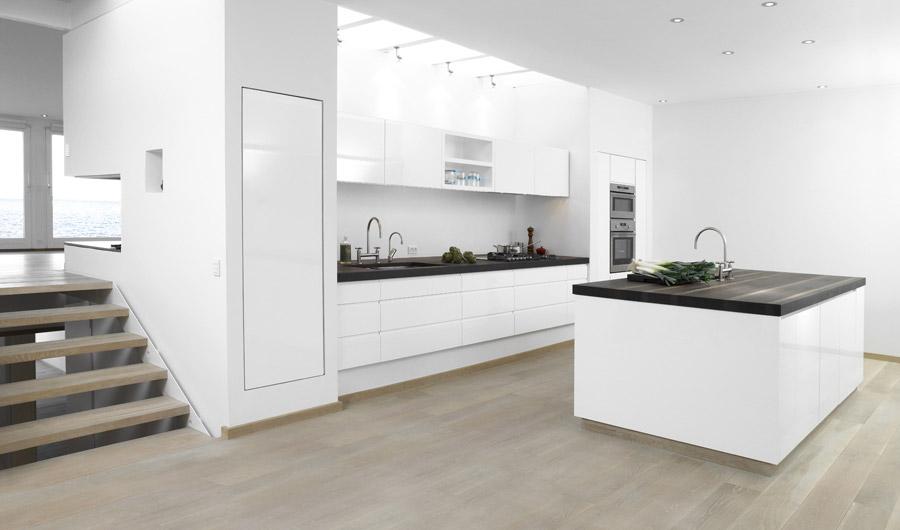 White Gloss Kitchen Design Ideas ~ Stylish white kitchen designs with scandinavian touches