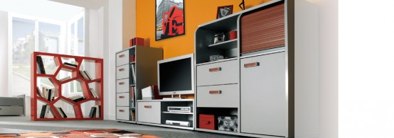 High Tech Junior Bedroom Furniture by Gautier