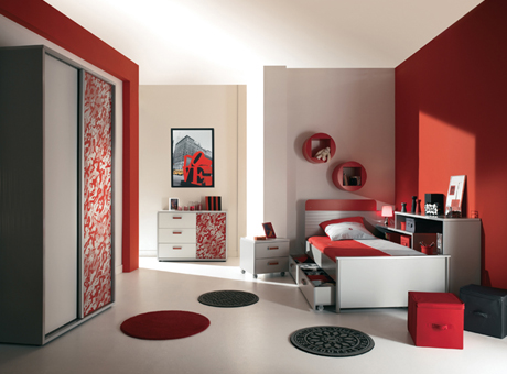 High tech junior bedroom furniture by gautier digsdigs for Couleur chambre ado fille