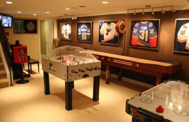 hockey-inspired game room